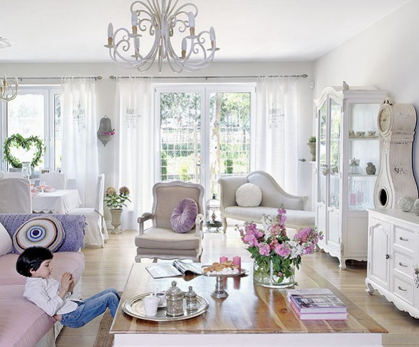 Living Room Furniture in Shabby Chic Style