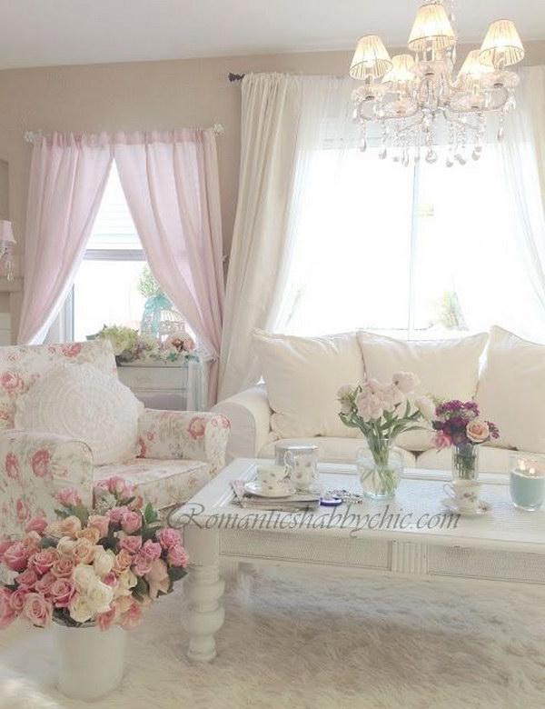 Shabby Chic Decor Living Room Vintage Romantic