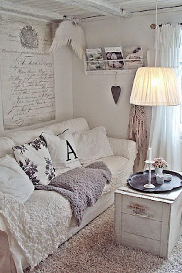 White Vintage Living Room