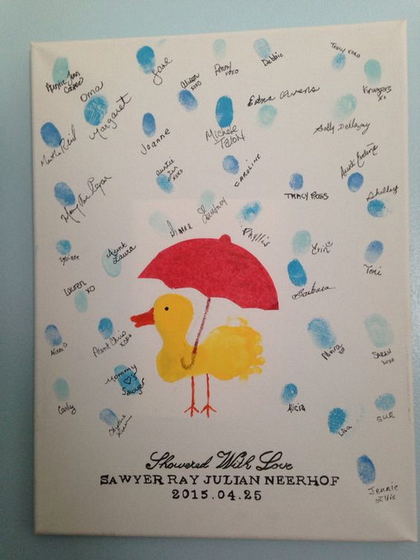 Duck Theme Baby Shower Guest Book