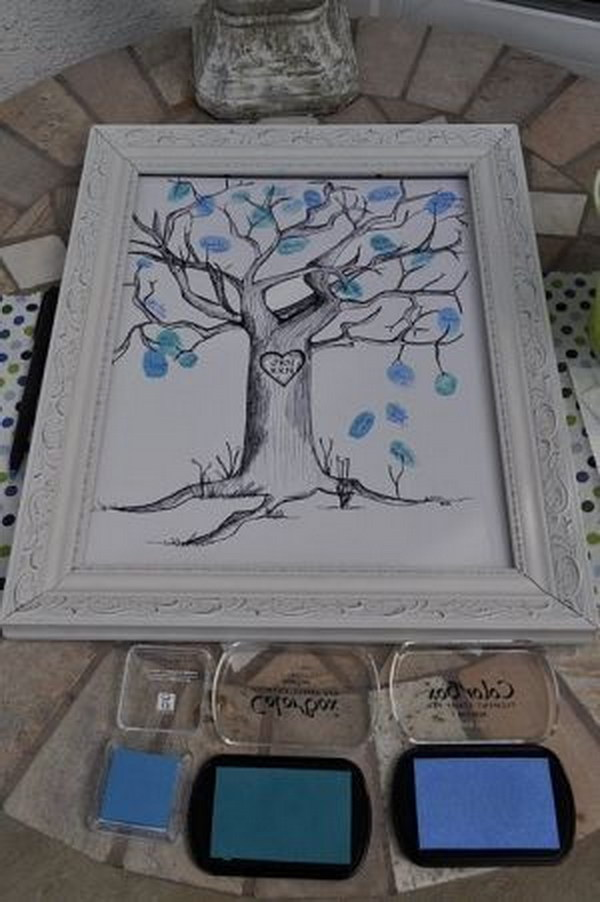 Thumb Prints On A Tree For Baby Book