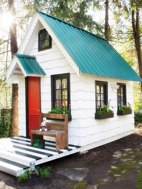 Backyard Kids' Playroom Shed.
